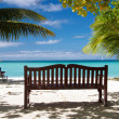 Bench and the having a rest person — Stock Photo