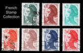 FRANCE - CIRCA 1955: Few stamps — Stock Photo