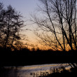 Winter Sunrise over a River — Stockfoto