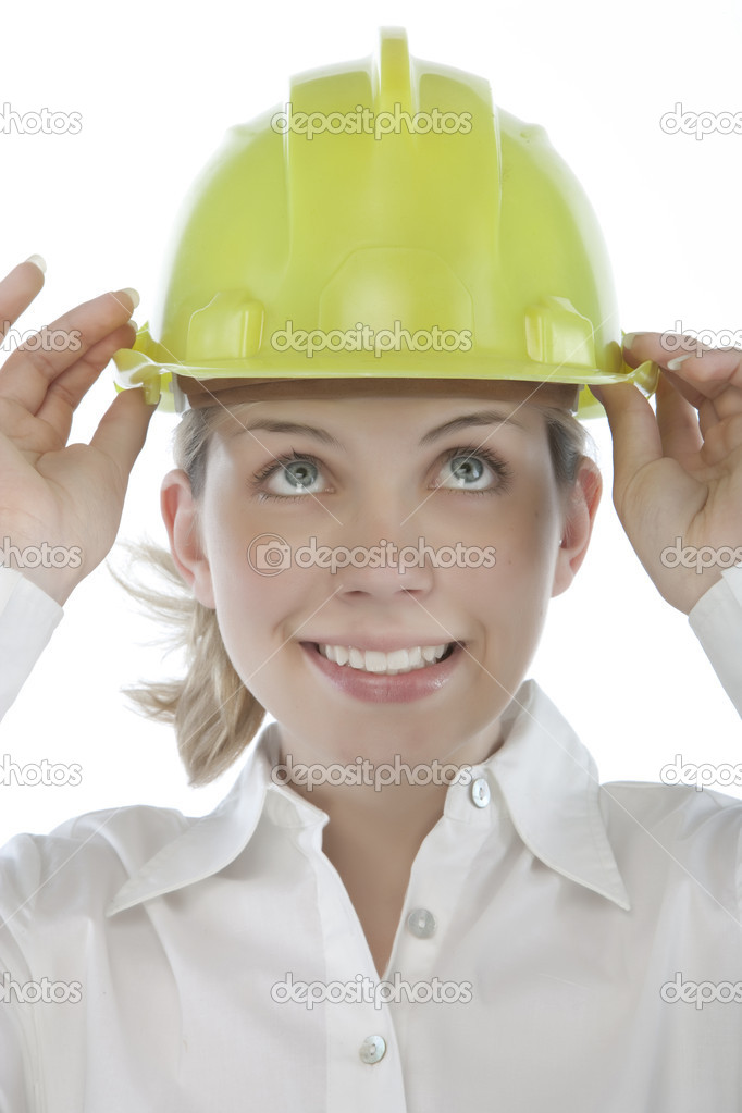 Attractive young engineer over a white background  Stock Photo #2685257
