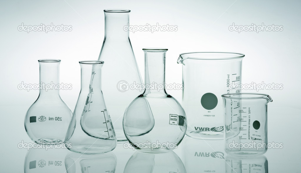 Research lab assorted glassware — Stock Photo #2685794