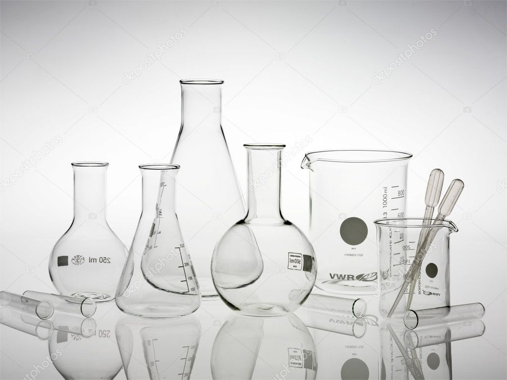Research lab assorted glassware  Stock Photo #2685891