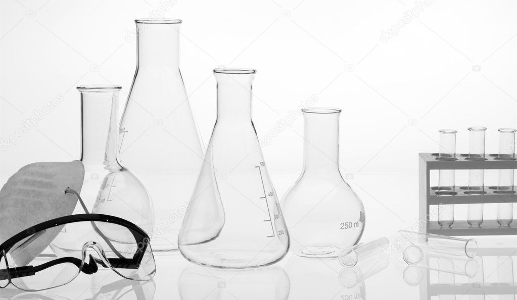 Research lab assorted glassware — Stock Photo #2686331