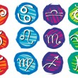 Royalty-Free Stock Vector Image: Set of zodiac signs