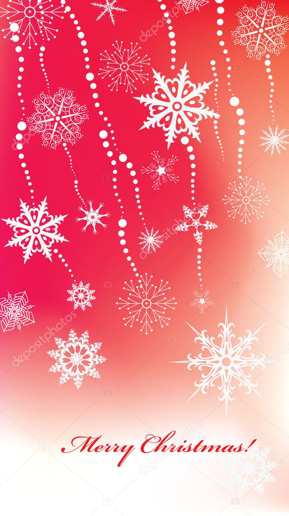 Abstract vector Christmas background with snowlakes   Stock Vector #2659835