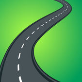 Curvy asphalt road — Stock Vector