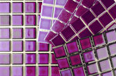 Ceramic tiles in aubergine colour — Stock Photo