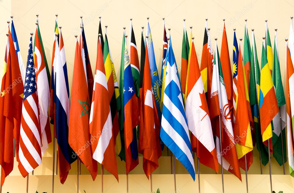 Colorful flags of a variety of nations — Stock Photo #2667624