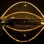 Steel Bridge at night — Stock Photo