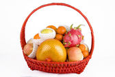 Fruit in the basket — Stock Photo