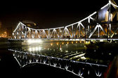 Steel Bridge at night — Stock Photo