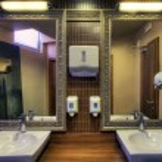 Restaurant toilet — Stock Photo