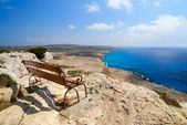 Bench with view — Stock Photo