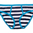Striped panties isolated — Stock Photo