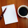 Notebook and coffee — Stok fotoğraf #2657601