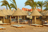 Hotel beach, kızıldeniz, sharm el sheikh, mısır. — Stok fotoğraf