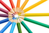 Circle of Crayons — Stock Photo