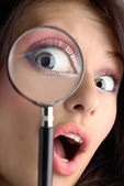 Magnifying eye — Stock Photo