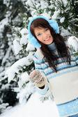 Winter girl — Stock Photo
