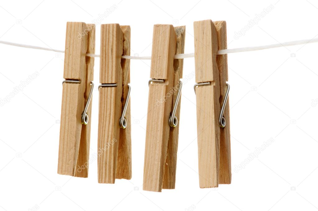 Clothespins hanging on stock photo taratata 2658897 for Clothespin photo hanger