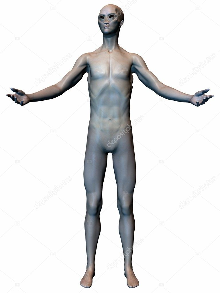 3D Render of an Alien — Stock Photo #2655615