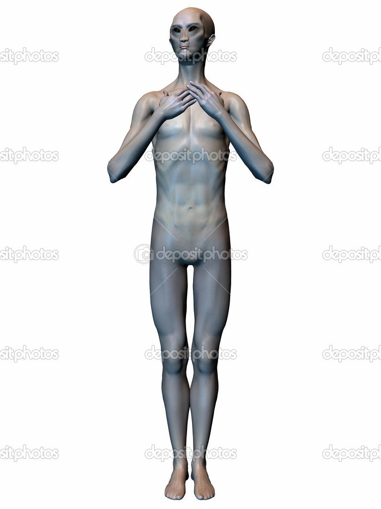 3D Render of an Alien — Stock Photo #2655668