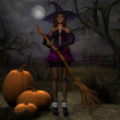Pumpkin Witch — Stock Photo #2673048