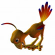 Toonimal Hatchling Phoenix — Stock Photo
