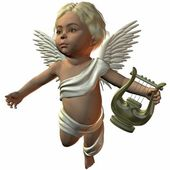 3D Render of an Cherub — Stock Photo