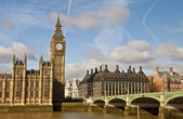 Big ben a westminster bridge — Stock fotografie