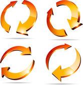 3d arrows. — Stock Vector
