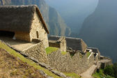 Hut at machu picchu — Stock Photo