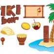 Stock Vector: Tiki art object