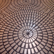 Stock Photo: Circle tiled pattern floor