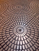 Circle tiled pattern floor — Stock Photo
