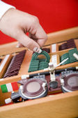 Ophthalmology medical instrument in lab — Stock Photo