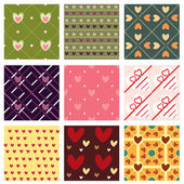 Lovely patterns — Stock Vector