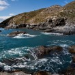 Rocky panoramic seashore — Stock Photo