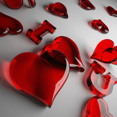 Loving heart red — Stock Photo
