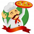 Pizza chef. — Stock Vector #2681030