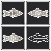 Fish - vector icon