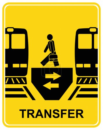 Постер, плакат: Transfer vector sign, холст на подрамнике