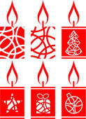 Vector Candle set in color 01