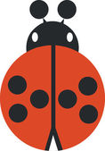 Ladybird silhouette in color 02