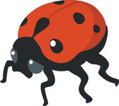 Ladybird silhouette in color 01