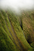 Multiple waterfalls on Kauai