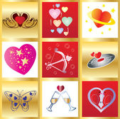 Valentine greetings card You can use it as 1 and as 9 little cards Vector illustration see more at my portfolio
