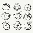 thumbnail of Doodle cartoon faces