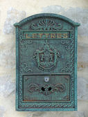 Old-fashioned French mailbox