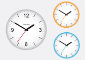 Wall office clock isolated on a white background